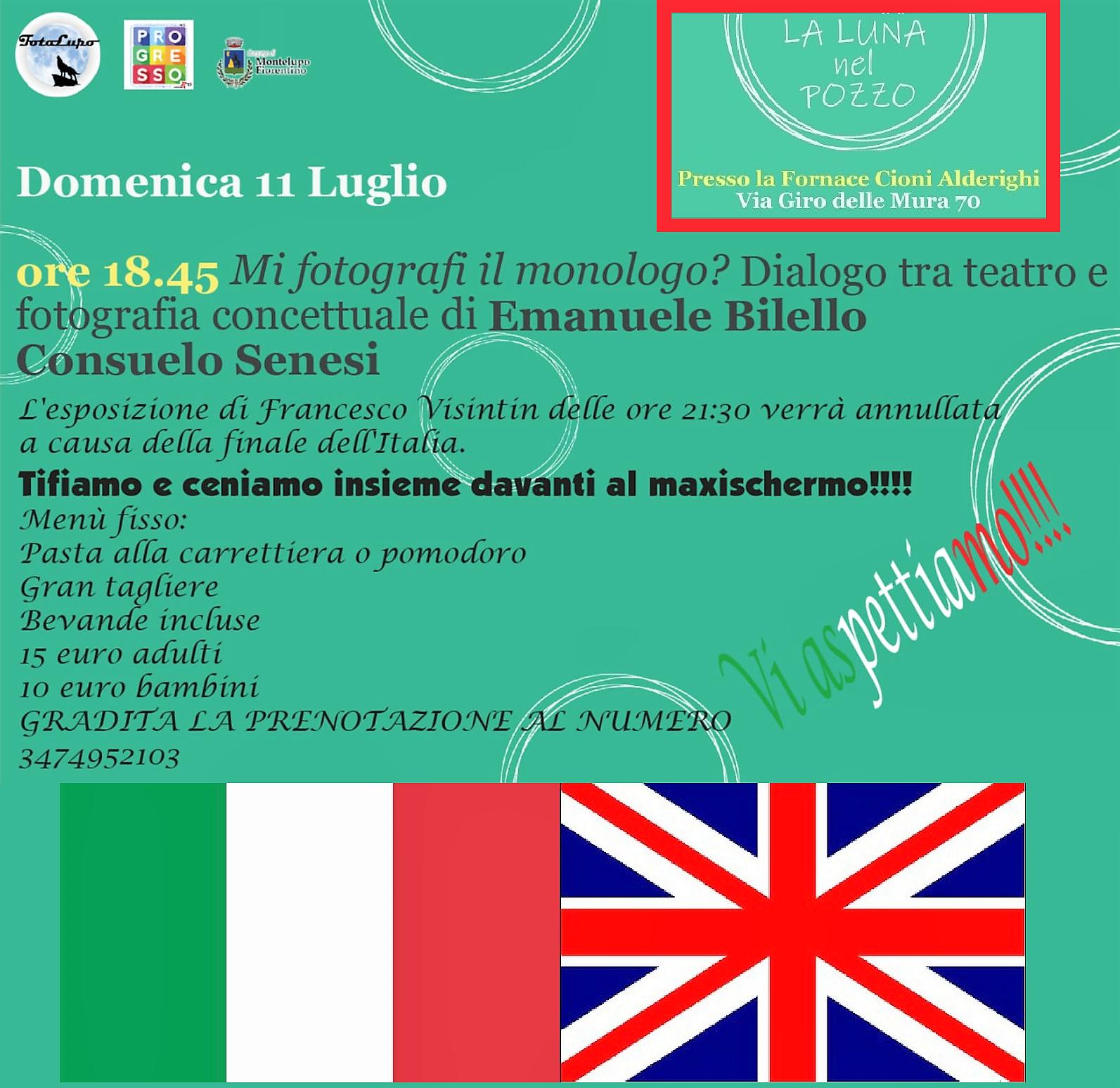 Luna nel pozzo 11 luglio 2021: foto, cena e Italia-Inghilterra